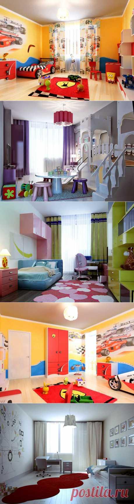 Цвет в дизайне детской комнаты   Фотографии красивых интерьеров