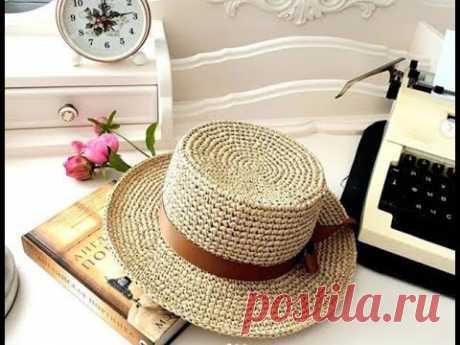 Модные шляпы панамки из рафии крючком - идеи для вязания и вдохновения - YouTube Красивые и модные шляпы, детские шляпки-панамки, кепки из рафии вязаные крючком. Видео подборка фото идей для вязания и вдохновения. #шляпакрючком #шляпаизрафии #шляпаизрафиикрючком #шляпаканотьеизрафии #панамаизрафии #панамакрючком #панамаизрафиикрючком #шляпаканотье #канотье #идеикрючком #идеиизрафии