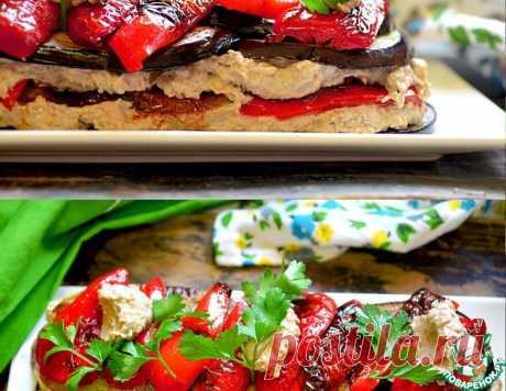 """Баклажанный закусочный торт в стиле """"Баба Гануш"""" – кулинарный рецепт"""