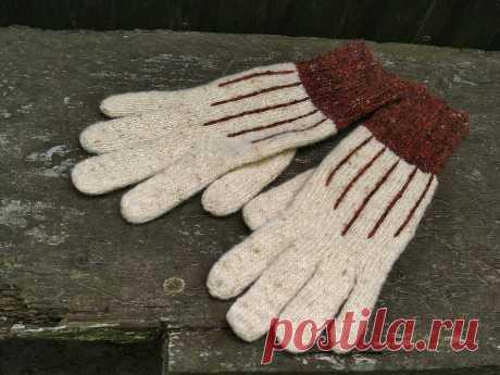 Твидовые перчатки спицами, Вязание для женщин