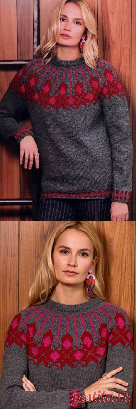 Вязаный женский пуловер «Modern Icelandic»