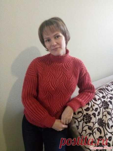 . Коралловый свитер Всем Здравствуйте !!!!!