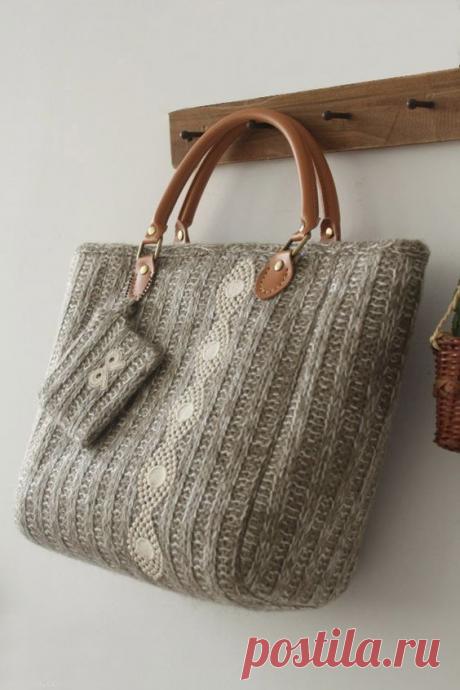 Вязаные сумки теперь в тренде. Идеи и описания. | Магия творчества | Яндекс Дзен
