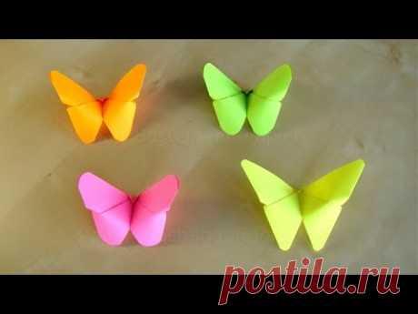 Оригами бабочка - Как сделать бабочку из бумаги?