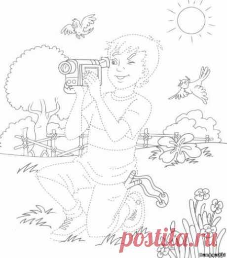 sitio11 - Соединяем по точкам - Дошкольное развитие ребенка - БумАгушки - детские раскраски и многое другое