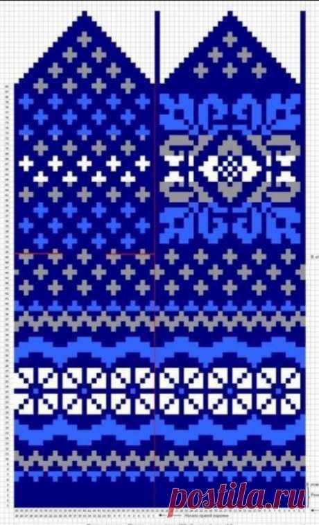 Орнаменты для варежек | VASHIPUPSI.RU - Женские секреты