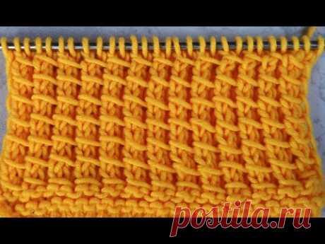 №144 Редкий  узор спицами на основе лицевой глади для вязания свитера  кофточки  детских вещей