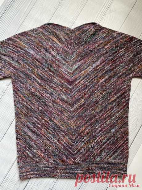 "Пуловер ""Японка"". Видео МК - Вязание - Страна Мам"
