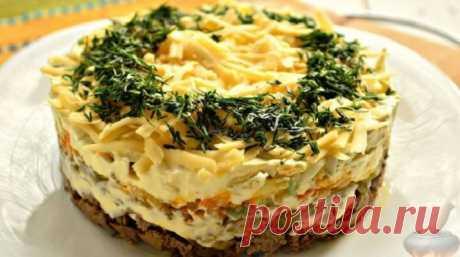 Самый нежный салат с куриной печенью - Люблю готовить