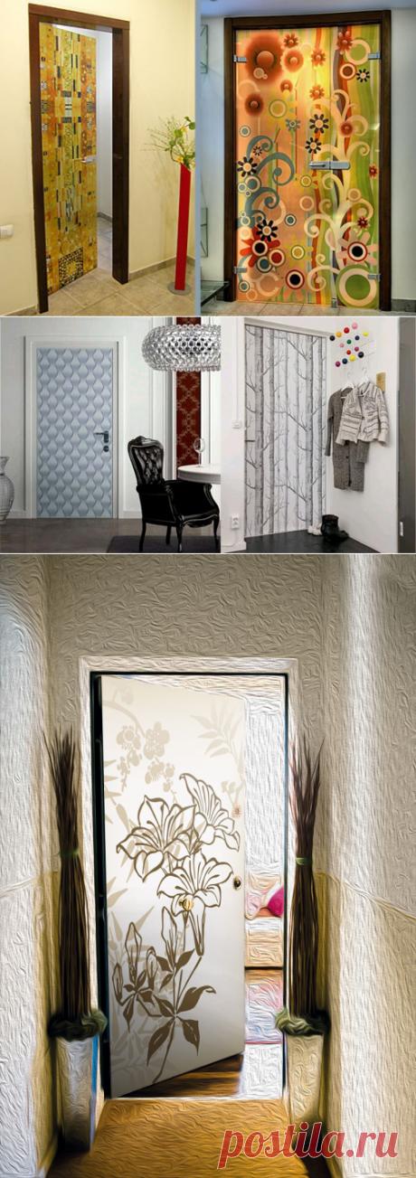 Декор дверей своими руками: фото интерьеров