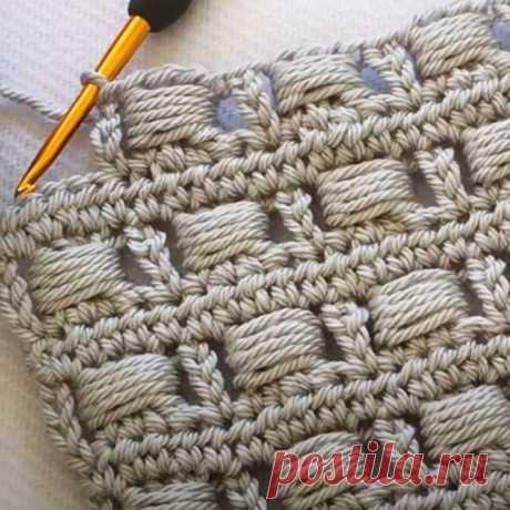 Вязание фактурного узора крючком. Мастер-класс