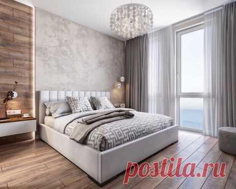 Дизайн спальной комнаты 13,5 кв.м. и гардеробной 3,5 кв.м. Дизайнер: Камаева Вера.