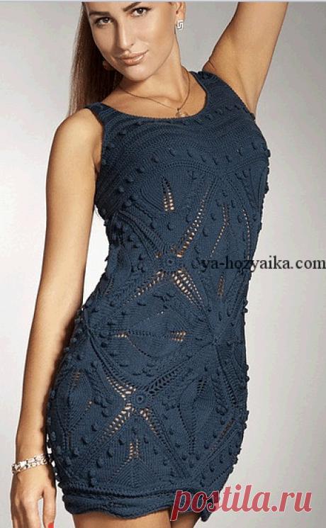 Летнее платье спицами с описанием. Вязание спицами для женщин на лето