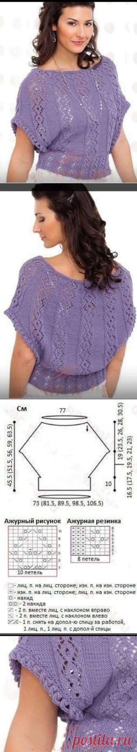 Нарядные кофточки и пуловеры с коротким рукавом   Волшебные спицы   Яндекс Дзен