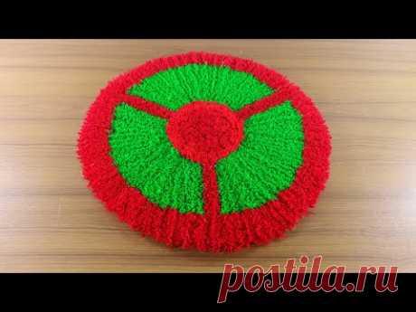 ☔অসাম পাপোশ ডিজাইন আইডিয়া 🚲 Doormat Design Idea at Home 🚗 Make Woolen paposh ! - YouTube