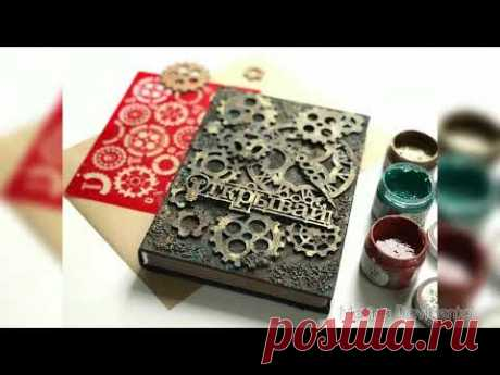 МК   Декорируем обложку для блокнота в стиле Стимпанк   Своими Руками   Скрапбукинг
