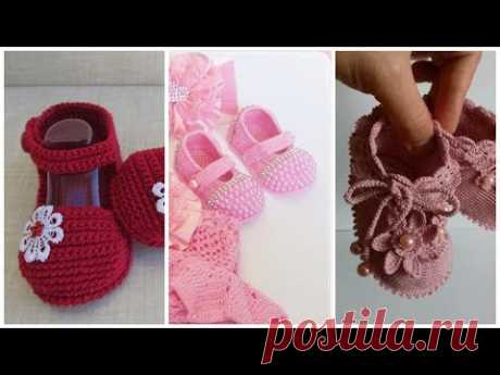 New cute & beautifull Crochet hand knitting baby,,kids shoes boots sandals design collection