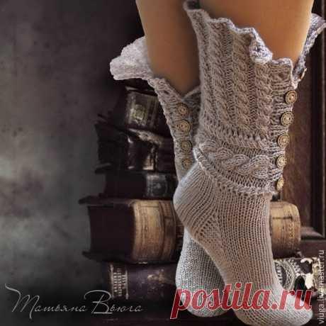 Сказание. Носки вязаные, шерстяные – купить в интернет-магазине на Ярмарке Мастеров с доставкой - 70193RU | Тверь