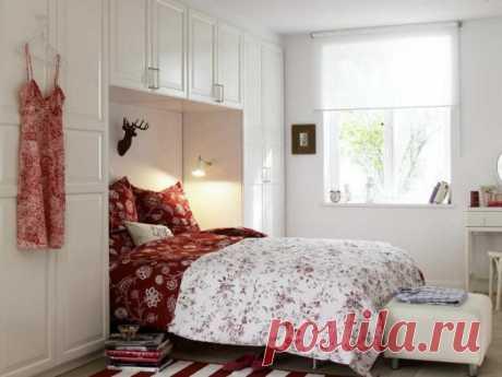 Профессиональные интерьеры маленькой спальни, делающие её самой уютной комнатой в доме | Мой дом