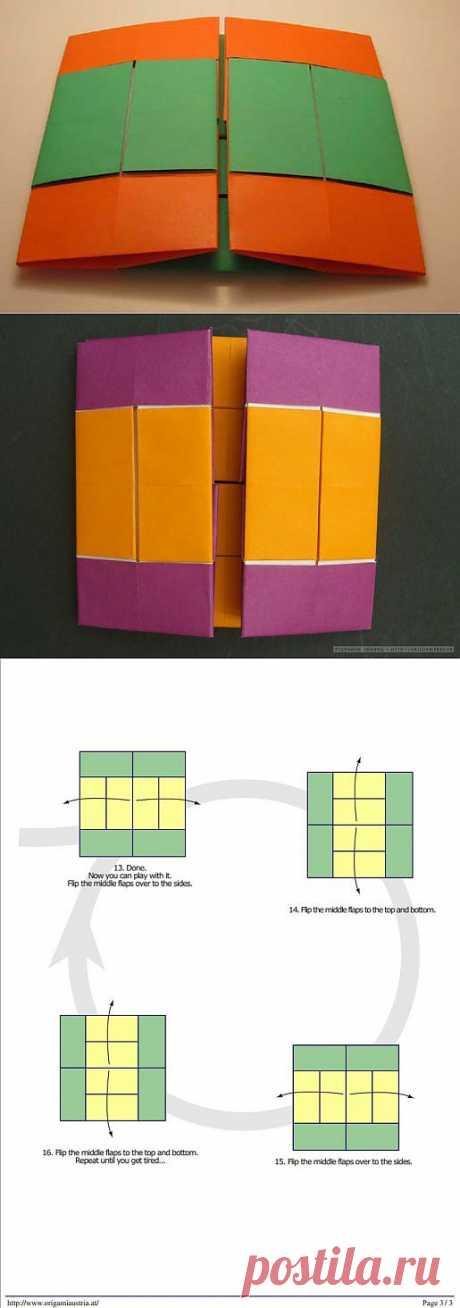 Бесконечный флиппер по схеме Anna Kastlunger. Головоломка для любителей оригами.