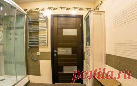 Межкомнатная дверь для ванной комнаты #ваннаякомната #дизайнинтерьера