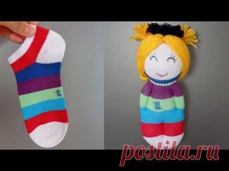 Куколка из носка