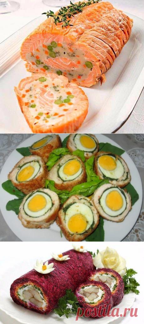 9 отличных закусочных рулетов к новогоднему столу!