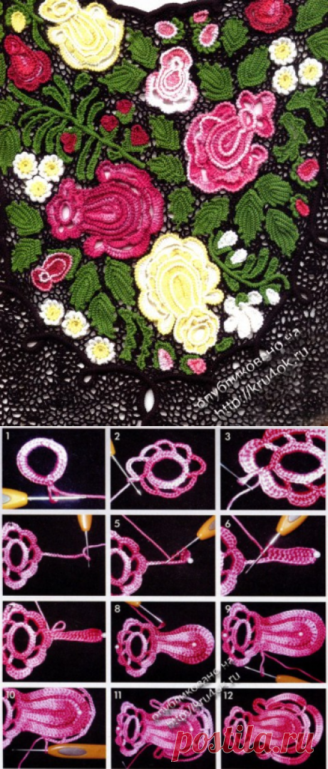 Ирландское кружево. Розы - мастер-класс