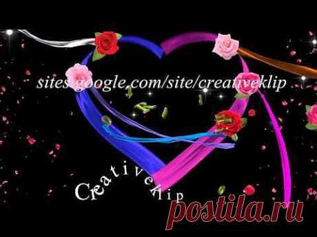 Футаж цветочная композиция (сердце из лент) - для просмотра ! - YouTube