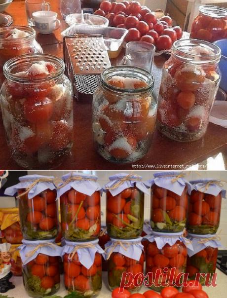 Обалденный рецепт засолки помидор в литровые банки