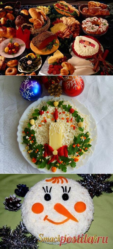Черпаем идеи: новогоднее украшение блюд.