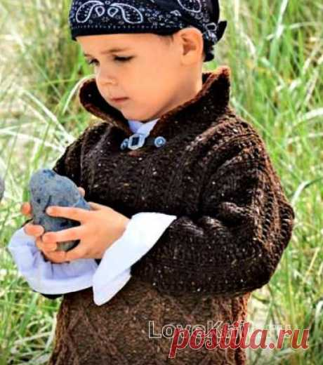 Двухцветный детский пуловер схема » Люблю Вязать