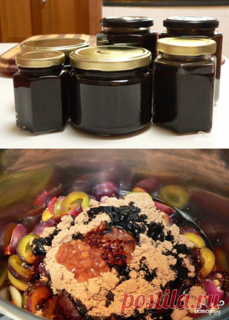 Sour plums sauce - the step-by-step culinary recipe from a photo on Повар.ру