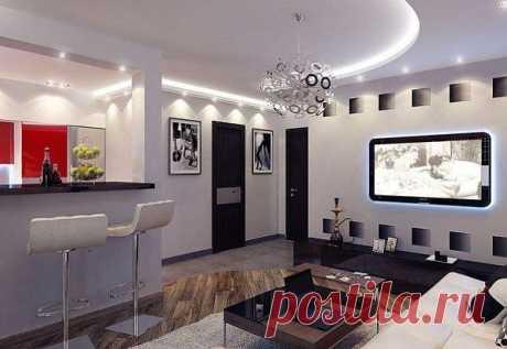 Дизайн небольшой квартиры (39,6 кв.м.).