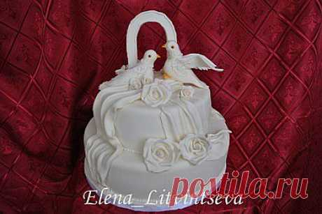 Украшение для торта - мк голуби..