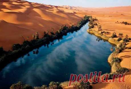 El oasis fantástico en el desierto africano: los lagos Ubari