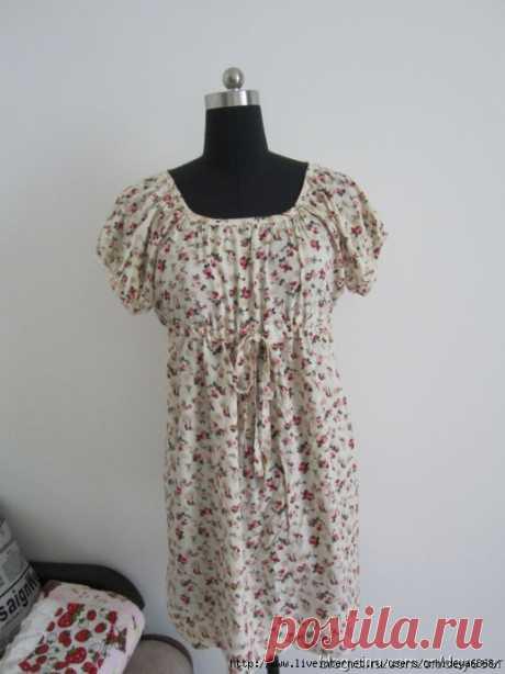 Платье с завышеной талией на любую фигуру   Источник