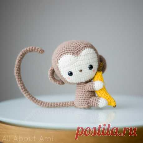 Amigurumi monkey hook: scheme of a toy