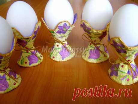 Пасхальная подставка для яиц. Мастер - класс