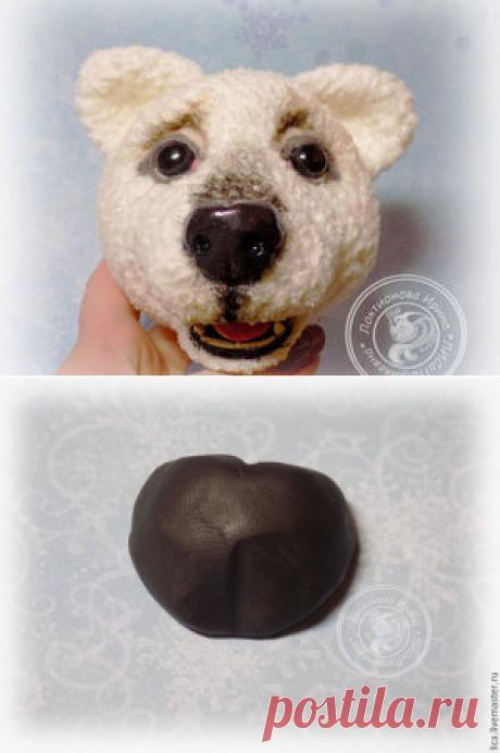 Лепим носик мишке или собачке из полимерной глины - Ярмарка Мастеров - ручная работа, handmade