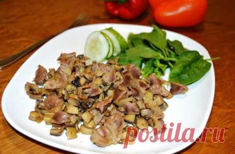 Блюда из куриных желудков