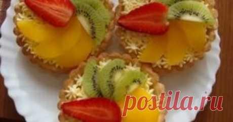 Пирожное Корзинка фруктов за 5 минут Вкусно и для любого праздника подойдёт!!!