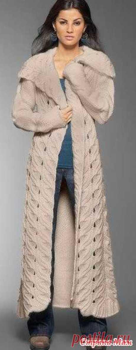 Как связать подиумное пальто - Вязание - Страна Мам