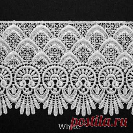Venise Lace Ribbon Trim for bridal apparel home décor 3 1 2 Inch by 1 Yard BAT 6963 - MommyGrid.com