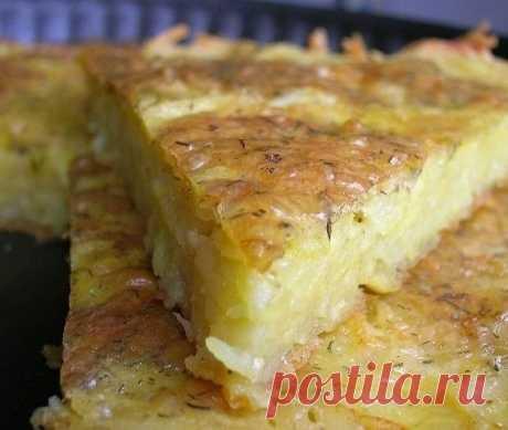 Запеканка из тертого картофеля с сыром и чесноком | Самые вкусные кулинарные рецепты