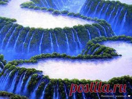 Какая красота!!! Цветы для друзей водопады Игуасу в Аргентине