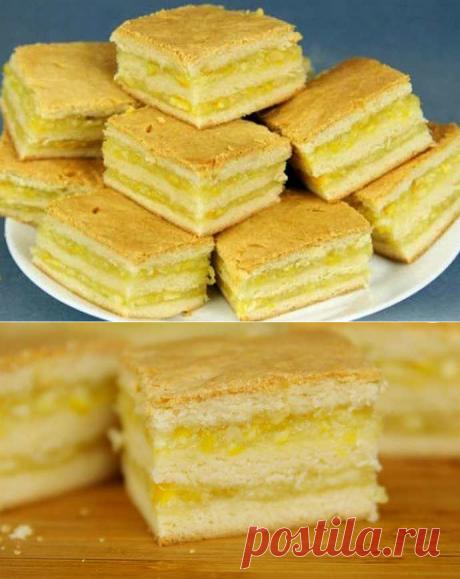 Пирожные с лимонно-апельсиновой начинкой - пошаговый рецепт
