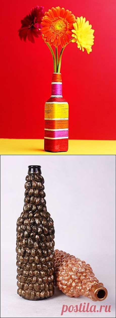 Ваза из бутылки (мастер-класс) / Цветы / Модный сайт о стильной переделке одежды и интерьера