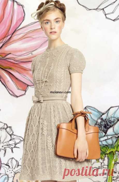 Модное вязаное платье с колосками от Valentino | Вяжем с Лана Ви