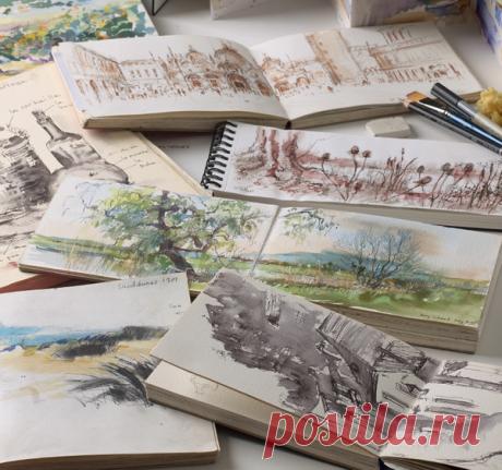От скетчей к акварельному рисунку. 12 полезных советов для начинающих художников
